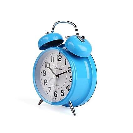 Reloj despertador, reloj de alarma de campana de metal ...