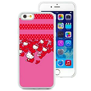 New Beautiful Custom Designed Cover Case For iPhone 6 4.7 Inch TPU With Hello Kitty Hearts (2) Phone Case