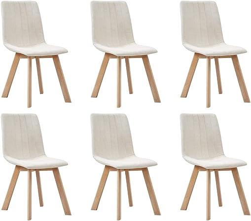 vidaXL Set di 6 sedie imbottite per sala da pranzo