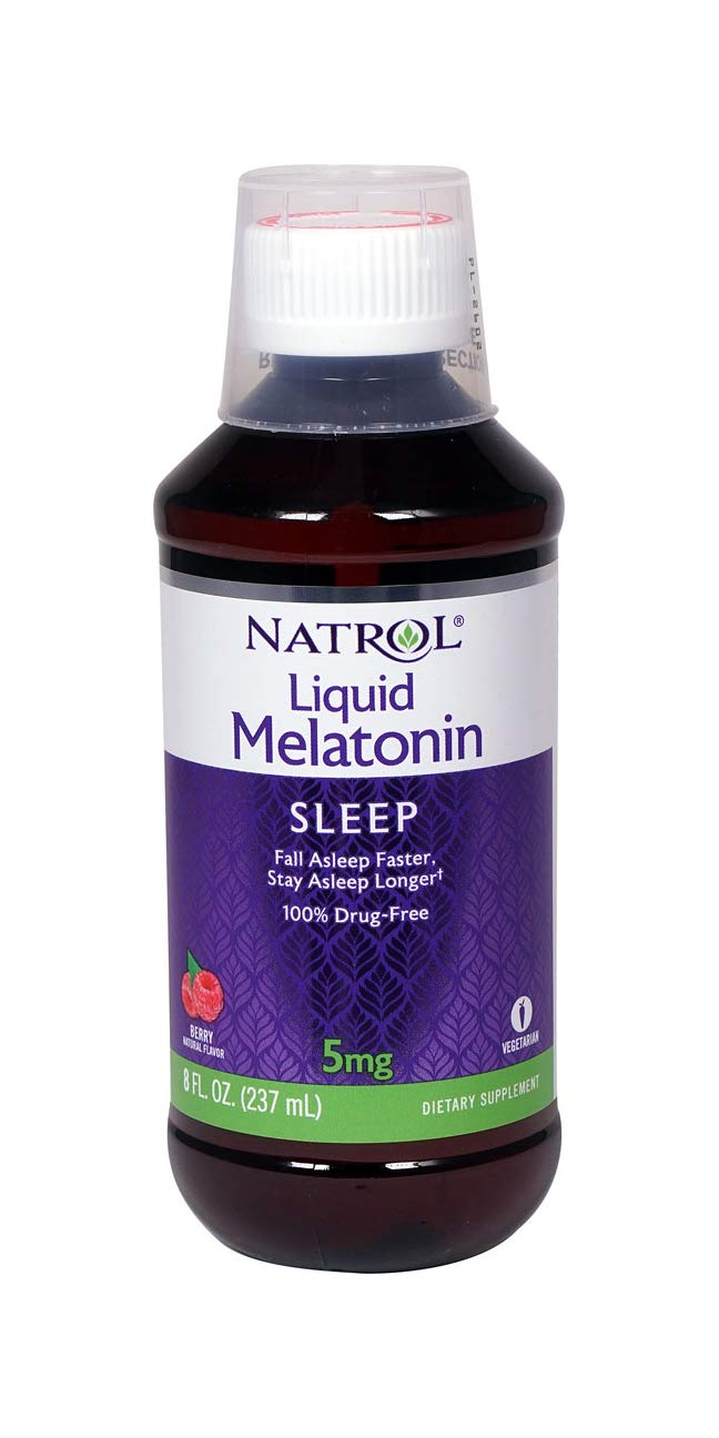 Natrol Melatonin Sleep Liquid, 5 Mg, 8 Fluid Ounce