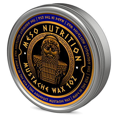 The Aqueduct Mustache Wax – All Natural Sandalwood, Musk, Patchouli, and Bergamot Fragrance