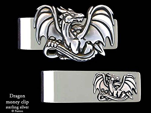 Dragon Money Clip in Solid Sterling Silver Hand Carved, Cast & Fabricated by Paxton by Paxton Jewelry
