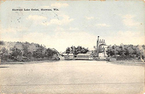 Shawano Wisconsin Lake Outlet Waterfront Antique Postcard - Wisconsin Outlets