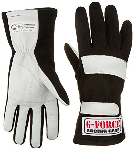 G-Force 4100LRGBK G1 Black Large Junior Racing Gloves