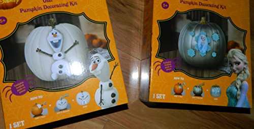 Gemmy Elsa & Olaf Pumpkin Decorating Kit (2) -