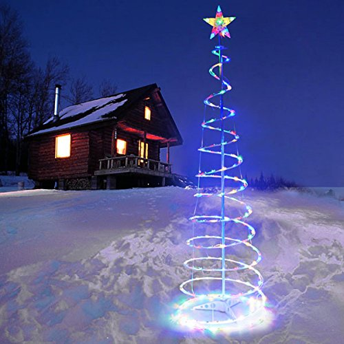 CHIMAERA 6 Ft. LED Lighted Spiral Christmas Tree (Multi-C...