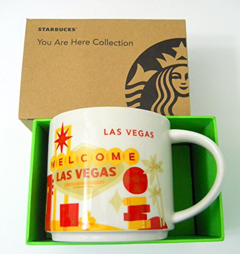 Starbucks Las Vegas Coffee Mug You Are Here 2015 Red In Welcome Slots Cards Tree