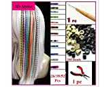 Feather Hair Extension Kit with 52 Synthetic Feathers 100 Beads Plier and Hook