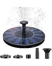AUFUN 1.4W Solar Springbrunnen,Teichpumpe Solar Monokristalline Panel Solarpumpe Fontäne für Gartenteiche, Fisch-Behälter, Garten Springbrunnen Wasserspiel Dekoration(Type C)