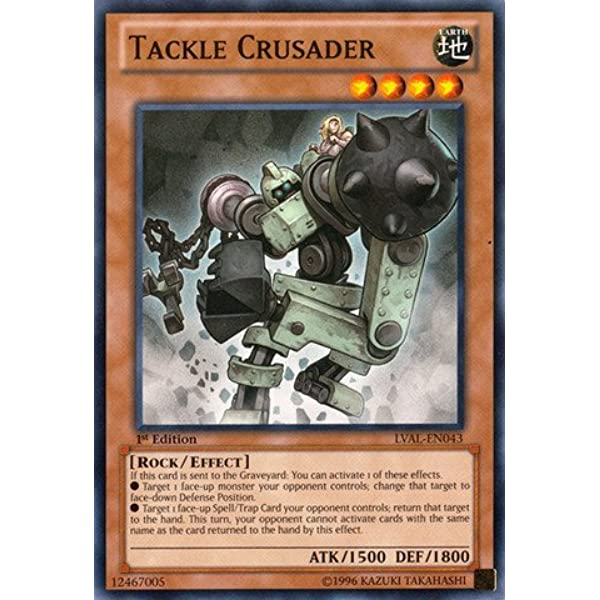 Yugioh Tackle Crusader LVAL x3 Playset 1st Edition NM Common