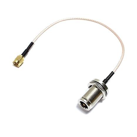 BeMatik - Cable coaxial RG316 SMA-macho a N-hembra 20cm ...