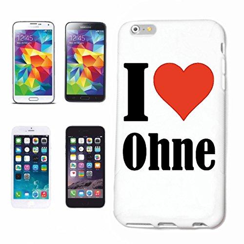 """Handyhülle iPhone 4 / 4S """"I Love Ohne"""" Hardcase Schutzhülle Handycover Smart Cover für Apple iPhone … in Weiß … Schlank und schön, das ist unser HardCase. Das Case wird mit einem Klick auf deinem Smar"""