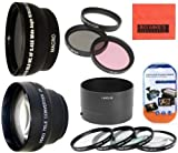Deluxe Lens Kit for Nikon Coolpix P510 Digital Camera - Includes 72mm 3PC Filter Kit + 4PC (+1 +2 +4 +10) Close Up Filter Set + 72mm 2X Telephoto Lens + 72mm 0.45x Wide Angle Lens with Macro Filter Adapter + More!!