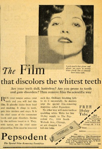 1929-ad-pepsodent-toothpaste-dentifrice-teeth-whitening-original-print-ad