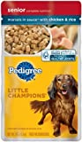 Pedigree Little Champions Healthy Maturity Morsels in Sauce with Chicken and Rice Food for Senior Dogs, 5.3-Ounce Pouches (Pack of 24), My Pet Supplies