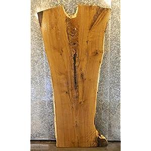 Kitchen/Picnic Table/Bar Top Rustic Natural Edge White Oak Wood Slab T: 2 1/2'', W: 40'', L: 81'' - 823