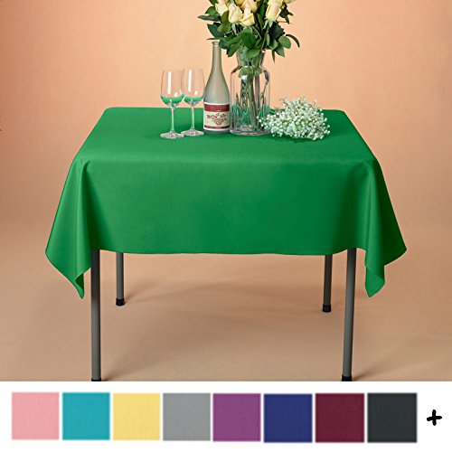 Remedios Tablecloth 54-inch Square Polyester Table Cover - Wedding Restaurant Party Banquet Decoration, Green (Polyester Square Table)