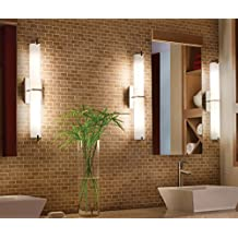 Cloudy Bay LED Bathroom Vanity Light,24 inch 3000K Warm White,20W Dimmable Wall Lamp,Brushed Nickel