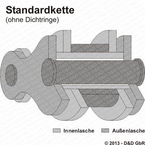 Typ AP verst/ärkt Kettensatz f/ür Suzuki GZ 125 Marauder DID Standard 1998-2006
