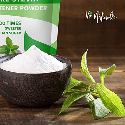 Vie Naturelle Pure Stevia Powder Extract Sweetener - 750 Servings - Zero Calorie Sugar Substitute - No Artificial Ingredients 6