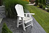 BEST POLY WOOD ADIRONDACK CHAIR PORCH FURNITURE & PATIO SEATING, Upright Design for Stylish Outdoor Living, Perfect for Front Entry & Back Yard, Fire Pit & Pool Side, Fun Color Choices (White)