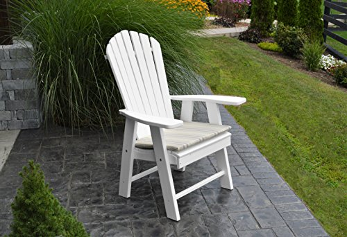 BEST POLY WOOD ADIRONDACK CHAIR PORCH FURNITURE & PATIO SEATING, Upright Design for Stylish Outdoor Living, Perfect for Front Entry & Back Yard, Fire Pit & Pool Side, Fun Color Choices (Cedar American Classic Glider Chair)