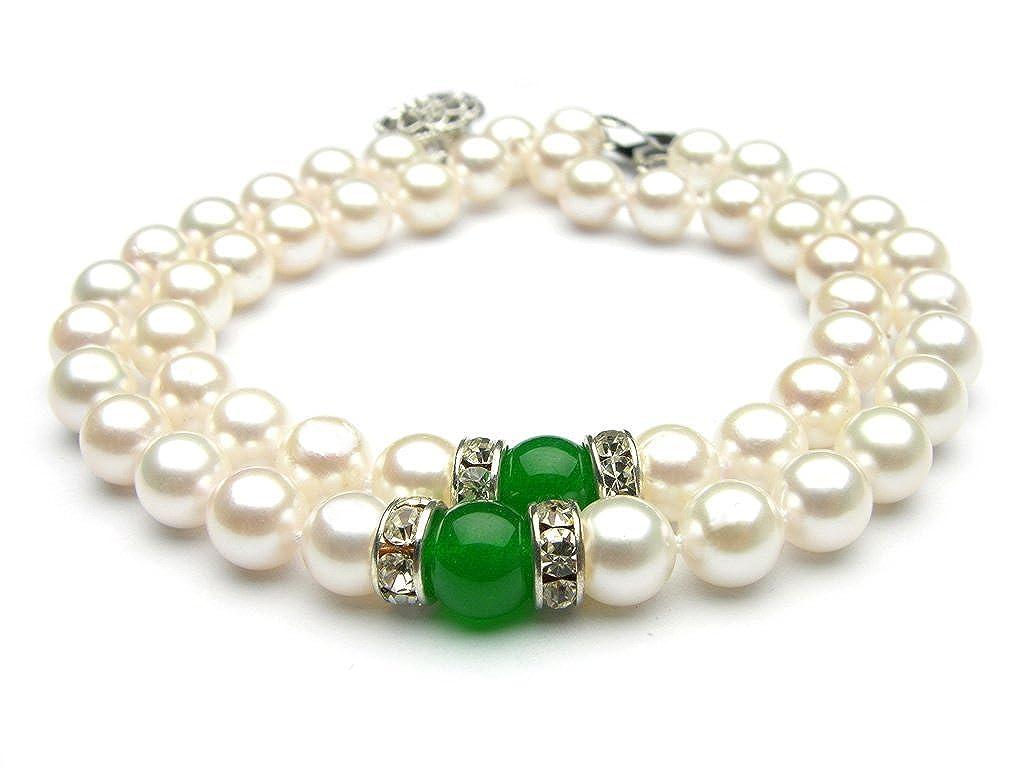 Trendy Souk Big Girls Radiant Dual Line Real Freshwater Hyderabadi Pearl Aaa Quality Bracelet
