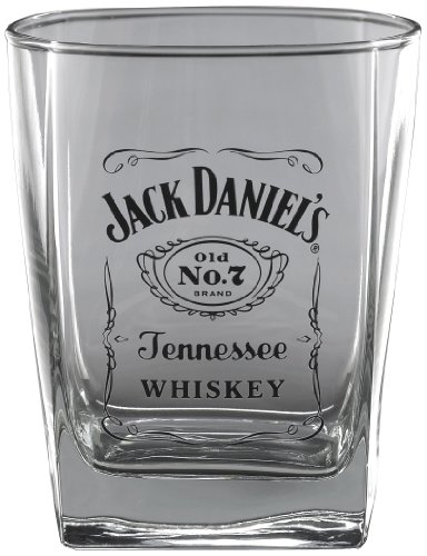 Jack Daniel's Licensed Barware Label Logo Double Old Fashioned Glass
