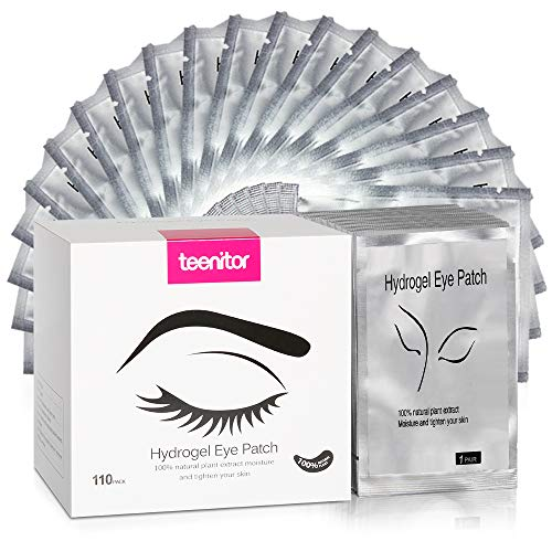 (Teenitor 110 Pairs Set Under Eye Pads, Professional Eyelash Pad Gel Patch for Lashes Extension Lint Free Eye Mask Tool)