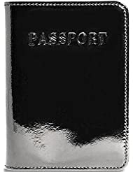Jack Georges Patent Leather Collection Passport Cover
