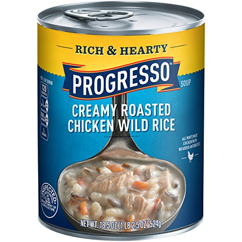 Progresso Rich & Hearty Creamy Roasted Chicken Wild Rice Soup 18.5 (Creamy Chicken Wild Rice)
