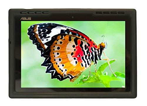 Bobj Rugged Case for ASUS ZenPad Z300, Z300CX, Z300C, Z300CG, Z300CL, Z301ML, Z301MFL, P023, Z300M, Z301M, P00C, P01A, P00L - BobjGear Custom Fit - Patented Venting - Sound Amplification (Bold Black)
