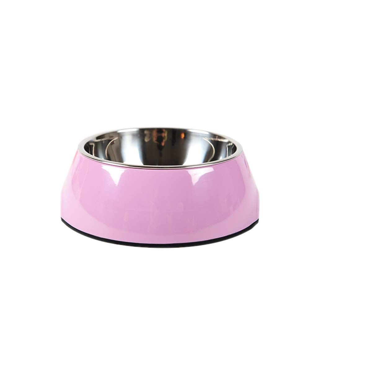 Dog Bowl Cat Bowl Stainless Steel Double Bowl Pink Yellow Green Red bluee orange Black (color   Pink, Size   XL)