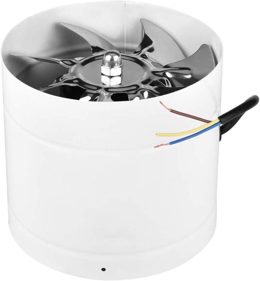 JZH-Light Ventilador De Escape De Alta Velocidad De 7 Pulgadas Conducto En Línea Extractor De Cocina Metal Ventilador Industrial 500 M³/H con El Cojinete De Bolas De Doble para Baño Inodoro Oficina