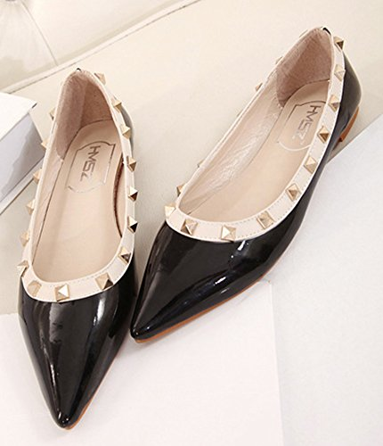 Women's Comfy On Loafer Aisun Black Slip Shoes Pointy Toe Flat q7dZ5O