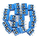 TOOGOO(R) 2-Pin Screw Terminal Block Connector 5.08mm Pitch Panel PCB Mount, 20Pcs