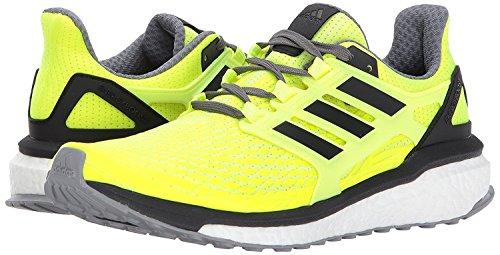 adidas Men's Energy Boost m Running Shoe, Solar Yellow/Black/Grey Four, 11.5 Medium US (Solar Boost)