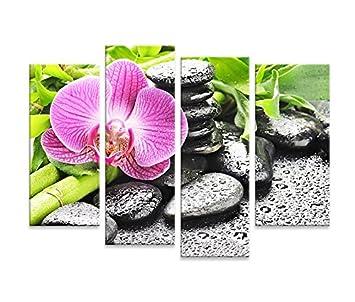 Islandburner Canvas Art Print Calmness Orchidee Bambus Steine Feng