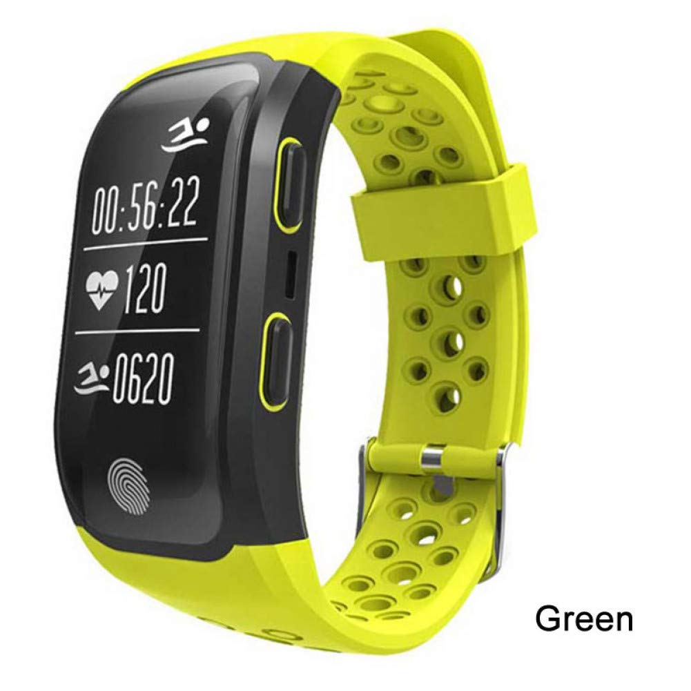 LETAMG Activity tracker Braccialetto astuto Impermeabile di blutooth di frequenza cardiaca dell'inseguitore di Polsino astuto Impermeabile della Fascia di GPS di verdetiger S908 GPS   astuto