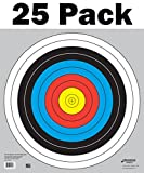 60 cm / 24 in Bullseye Archery (10 Ring) and Gun Targets by Longbow Targets (25 Pack)