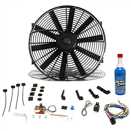 Zirgo 10305 Super Cool Pack (1248 fCFM 12'' Fan, Adj. Temp Switch, Harness, and Brackets and Additive) by Zirgo