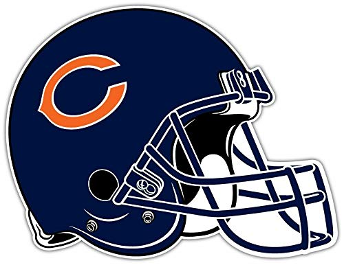 (Craftmag Vinyl Sticker Chicago Bears NFL Football Helmet Bumper Laptop Water Bottle Window 5 X 4 INCH)