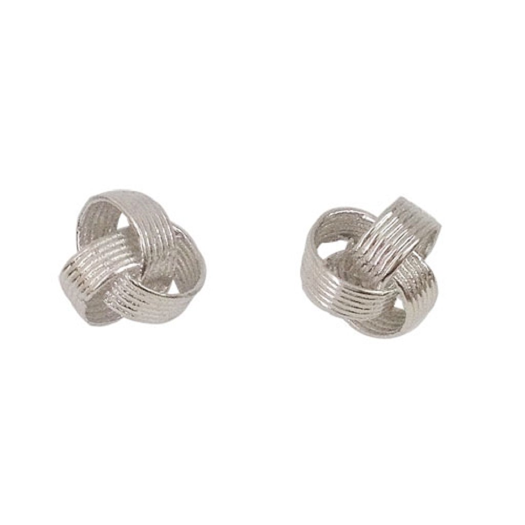 Sterling Silver Twisted 9MM Love Knot Stud Earrings – 100% Hypoallergenic and Allergy Free Jewelry