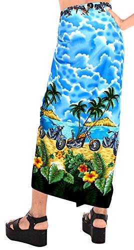 La Blu Sarong Donne Costume v694 Costumi Beachwear Leela Pareo Coprire Le Da Bagno Involucro Gonna rRqrOCw