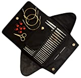 Addi Click BASIC GOLD Interchangeable Knitting Needle Set + Extras