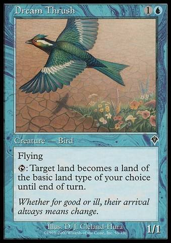 Magic: the Gathering - Dream Thrush - Invasion Thrush Magic