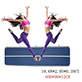 Focussexy Inflatable Air Track Gymnastics Tumbling Mats For Kit Inflatable GYM Air Mat Gymnastics Equipment - Only Airtrack