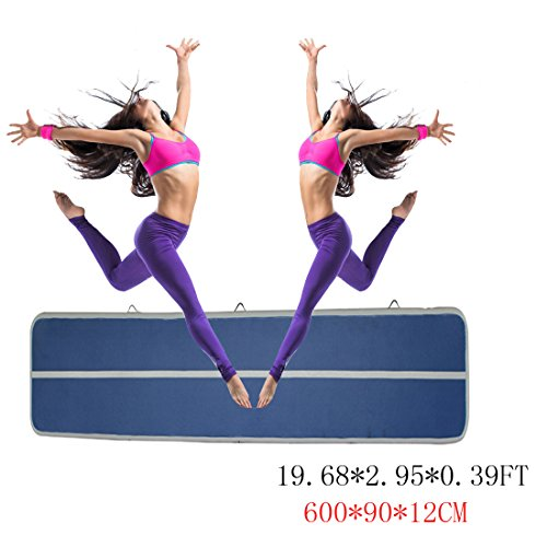 Focussexy Inflatable Air Track Gymnastics Tumbling Mats For Kit Inflatable GYM Air Mat Gymnastics Equipment - Only Airtrack by Focussexy