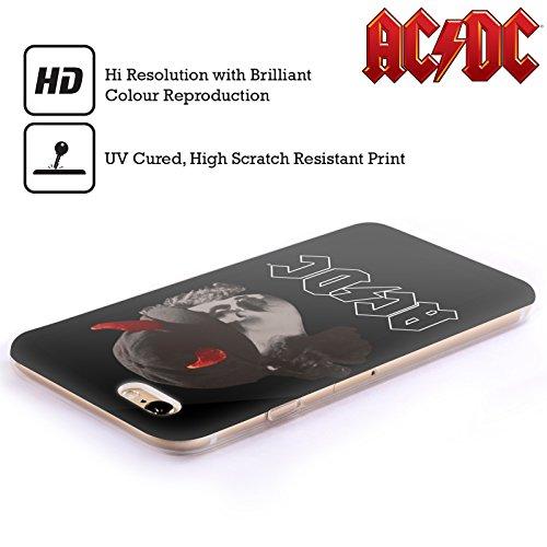 Officiel AC/DC ACDC Angus Young Klaxons Solo Étui Coque en Gel molle pour Apple iPhone 4 / 4S