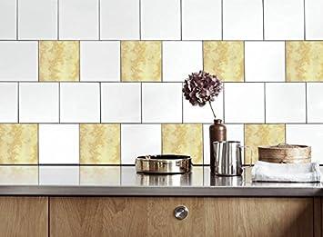 Küche Fliesen Aufkleber Marmor2 Vinyl Film Für Badezimmer Wand Fliesen Ideen  Verschiedene Größen   16pcs